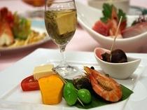 前菜とワイン