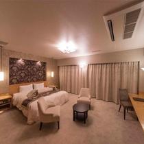 【客室一例】DXダブル・Wi-Fi完備・ベット幅185cm×縦195m・広さ約40.9平米