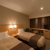 【客室一例】禁煙ツイン・Wi-Fi完備・ベット幅98cm×縦200cm・広さ約20.4平米