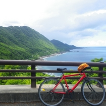 壮大な景色を楽しみながらサイクリングも人気♪