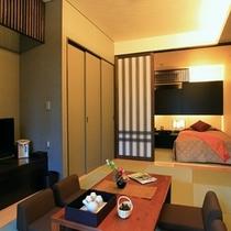 【新館和洋室例】ベッドがツインタイプのお部屋です♪(部屋指定は出来ませんので、ご了承下さい)