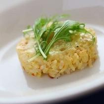 【ディナー例】洋食なのに・・・パンだけでなく、ご飯ものも楽しめます!洋風と和風をチョイス♪