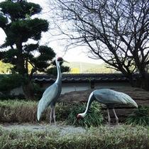*【出水駅】世界一の鶴の渡来地ならではのモニュメントがございます