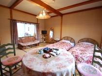珍竹林 洋室「花」は、当館唯一のベッドタイプのお部屋です