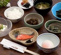 加賀野菜を使った朝食
