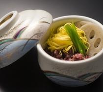 古代米の蒸し寿司