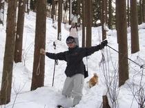 スノーピクニック2(森の中を散策)