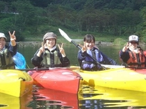 カヌー体験5(みんなで遊びに来ました!)