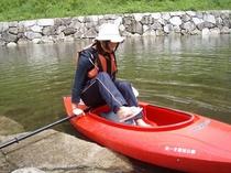 カヌー体験2(乗り込みます)