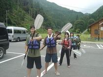 カヌー体験1(まずは漕ぎ方から)