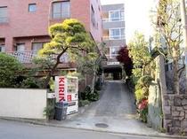 ホテル老松:入り口