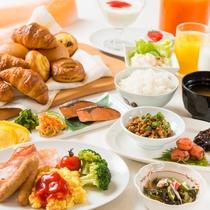 朝食ビュッフェ無料!