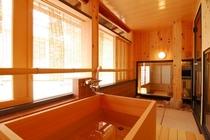 「うの間」の客室についている温泉です。