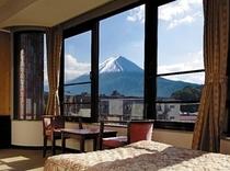 富士山側の客室