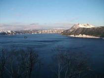 摩周湖(冬の夕暮れ)