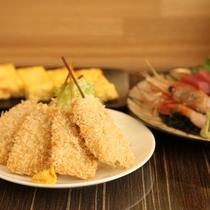【帯広串かつ長居】帯広では珍しい、串揚げを中心とした食事処。
