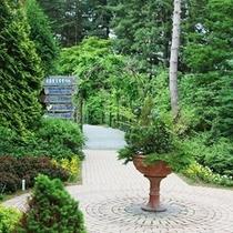 真鍋庭園は日本初の針葉樹をメインとした庭園(コニファーガーデン)です。
