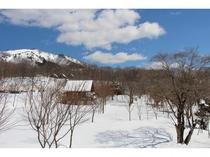 ログコテージ村民の家Ⅱ希からの眺望