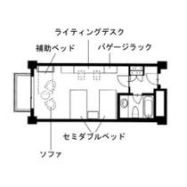 【新館アネックス洋室デラックスツイン】 広々セミダブルベッド2台