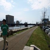 【釧路川】 河川敷をランニングしませんか