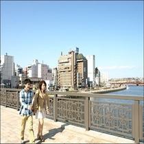 【幣舞橋】 釧路の観光スポット 幣舞橋 ホテルからすぐそこ♪