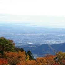 大山中腹からの景色(ミシュラン2つ星認定)