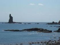 火の神公園から見た立神岩