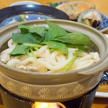 *【夕食一例】小鍋仕立てのうどんすき