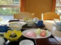 女将手作りの朝食