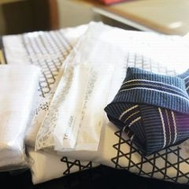 【外観・館内情報】アメニティ 浴衣・バスタオル・小タオルはお部屋にご用意させて頂きます