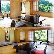 【和室一例】1階と2階に部屋がございます。それぞれの部屋から自然を間近に感じる事が出来ます。