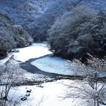 【冬の景色】この雪景色も風情があります。冬の丹沢エリアもおすすめですね。