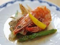 竹の子と海老の炒め物