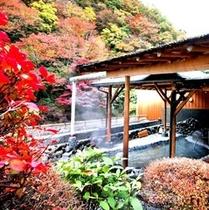 ●秋紅葉〜露天風呂