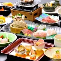 鮑&地魚会席(お料理一例)
