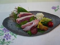 山の幸会席 山の肉(鹿、地鶏、鴨)