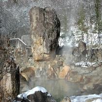 雪見温泉が気持ちいい