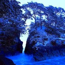 【神割崎】冬の神割崎も景色がとても綺麗で、静けさと、澄んだ空気を味わうことが出来ます