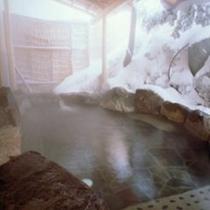 露天風呂 冬■