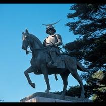 伊達政宗騎馬像 青葉城跡