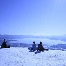 グランドサンピア猪苗代リゾートスキー場の頂上は最高のロケーション!