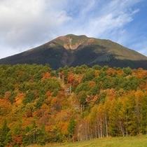 秋空の磐梯山