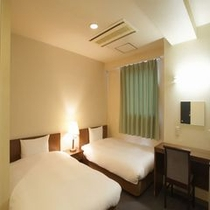 【ツインルーム】広々ツインルームはファミリー向け♪ツインルームは2〜4名様までご利用可能です。
