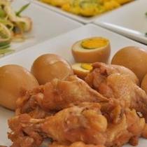 【鶏肉&玉子】さっぱりの鶏肉と味付け玉子の組み合わせはぴったりよく合います♪