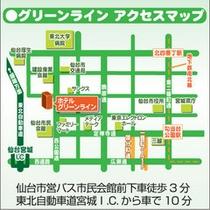 ホテルグリーンライン アクセスマップ