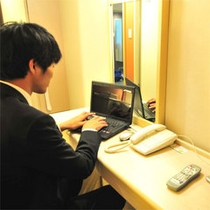 Wi-Fi環境完備!お持ちのPC・スマートフォンでインターネット!