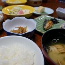 【お料理】朝食 ご飯は鳥取米を使用!ほっくほく♪