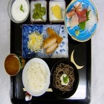 夕食の一例(和食)