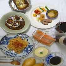 夕食の一例(洋食)