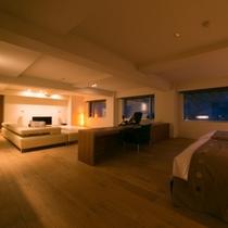 【エグゼクティブスイート】余計なものを排し、空間を贅沢に使ったワンルームタイプのシンプルなお部屋。